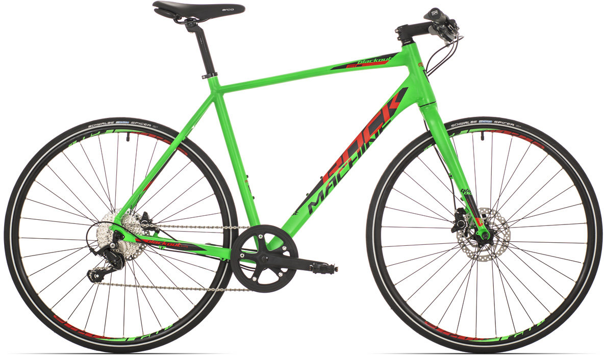 Kolo Rock Machine trekk Blackout 60 matt neon green/black/red 50cm