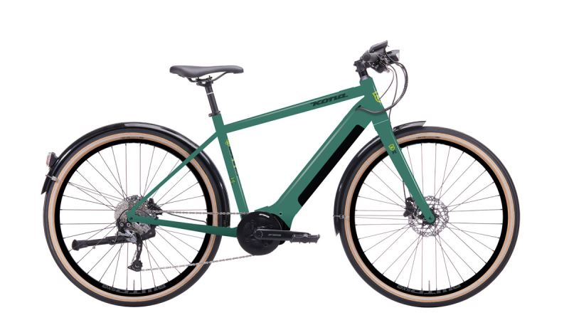 KONA Dew E-DL Gloss Metallic Green w/ Dark Green & Slime Decals