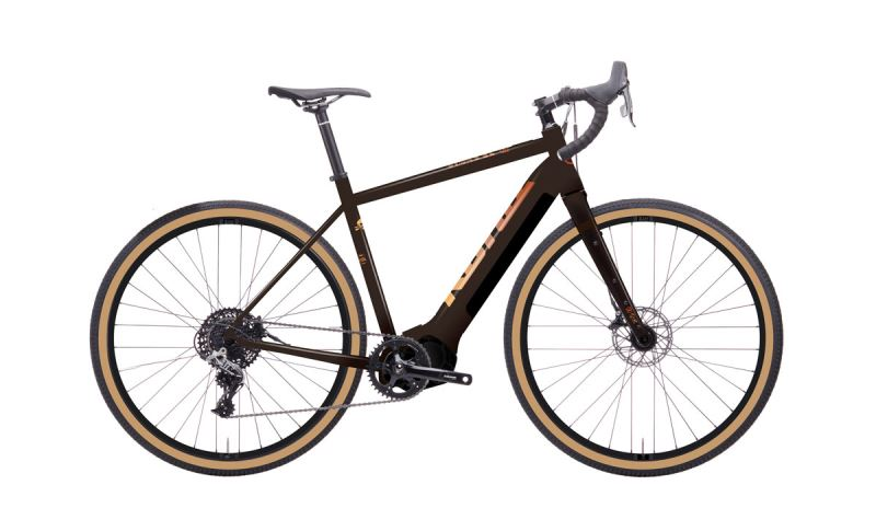 KONA Libre El Gloss Chocolate w/ Yellow, Rust & Flame Fade Decal