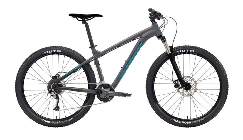 KONA Fire Mountain Grey Matt Faux Raw w/ Gloss Metallic Blue & Black Decal