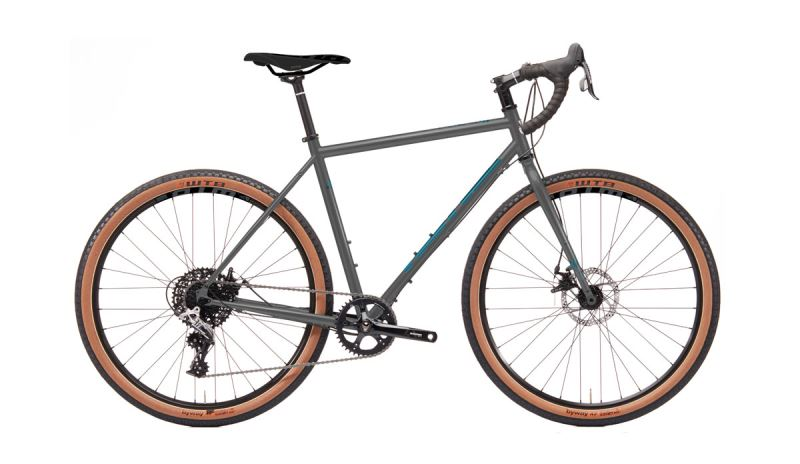 KONA Rove ST DL Matte Faux Raw w/ Gloss Metallic Silver & Blue Dec