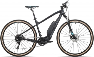 Rock Machine CrossRide e400 mat black/petrol blue/dark grey