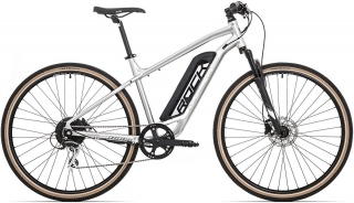 Rock Machine CrossRide e350 gloss silver/black (500Wh)