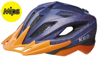 Přilba KED Street Junior MIPS M blue orange 53-58 cm